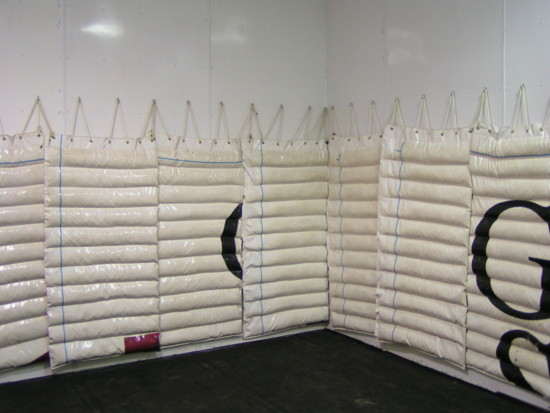 The padded equine recovery room